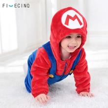 Baby Costume Anime Cosplay Costumes Little Boy Girl Warm Sleepwear Jumpsuit Hooded Halloween Festiva