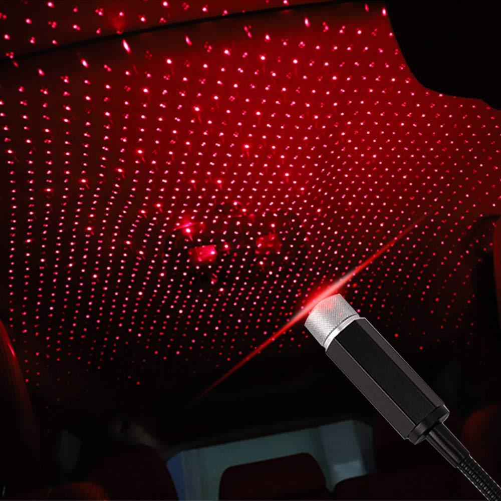 2019 romántico Auto techo estrella proyector luces Flexible USB Lámpara de noche se adapta a todos los coches SUV camión Luz de decoración de techo para fiesta