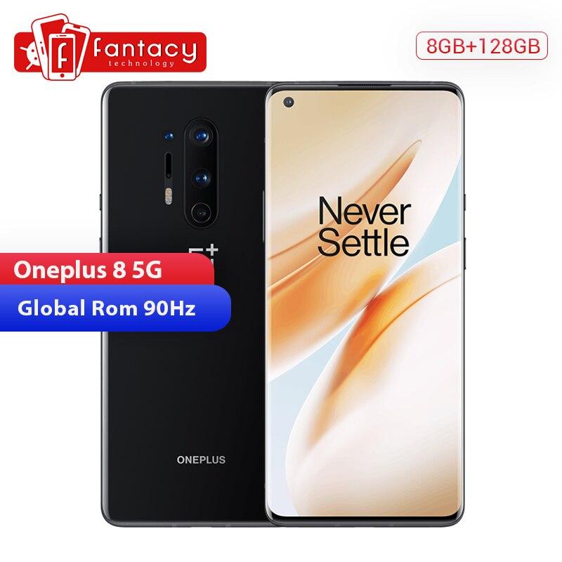 "En Stock Rom Global Oneplus 8 5G Smartphone Snapdragon 865 Octa Core 8GB 128GB 6,55 ""3120x1440 90Hz Android 10 W 30W cargador de NFC"