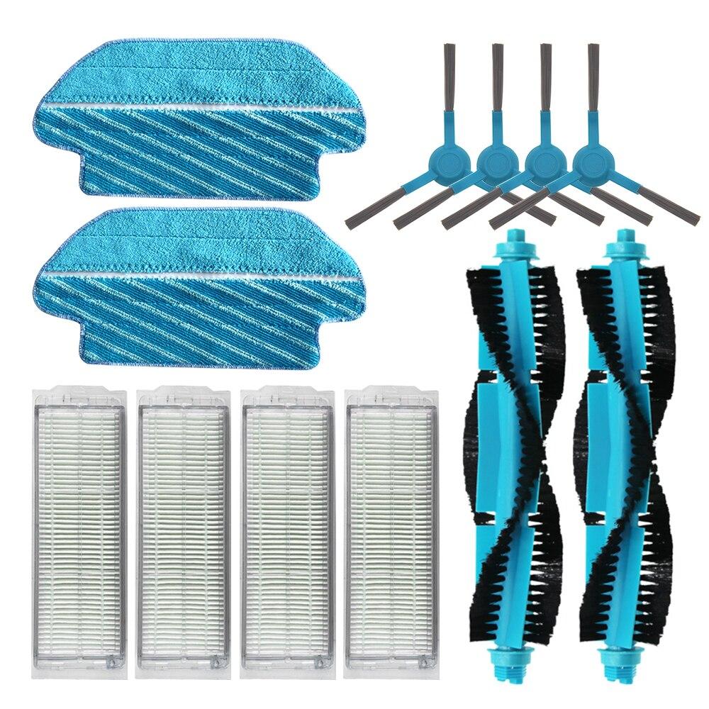 Filtro HEPA, cepillo rodillo, mopa, almohadillas, paño para Cecotec Conga 3290 3490 3690, repuestos de aspiradora, reemplazo de cepillo lateral, Kits
