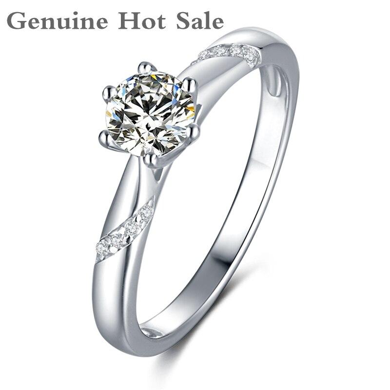 925 prata esterlina romântico moissanite anel seis pontas definir d cor excelente corte 0.5ct passou teste feminino anel de festa jóias