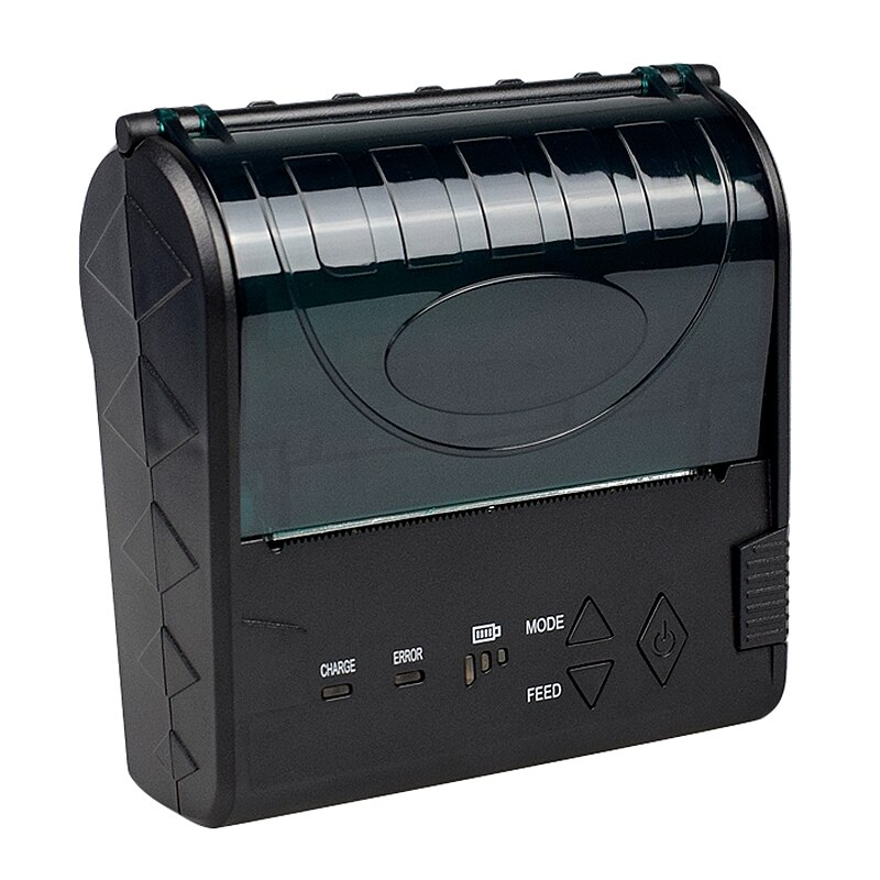 Impresora de POS-8003, 80mm, portátil, inalámbrica, Bluetooth, impresora térmica de facturas, para imprimir en teléfonos Android y Apple, enchufe estadounidense