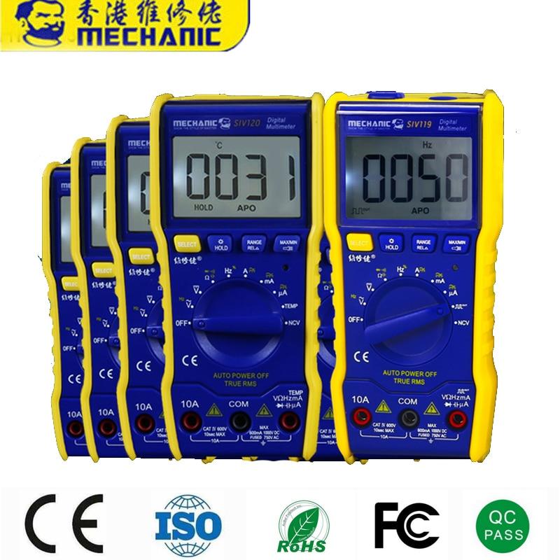 60pcs Mechanic SIV120 SIV119 Latest Multimeter MECHANIC Mini Smart Multimeter Range Mobile Phone Repair Dedicated