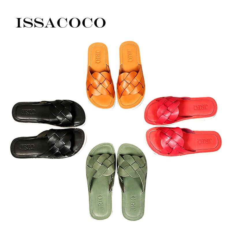 Summer Slides Woman's Pumps Designer Slipper Sandals Female Ladies Luxury Beach Shoes Women's Spring Leather Casual Flat Shoes