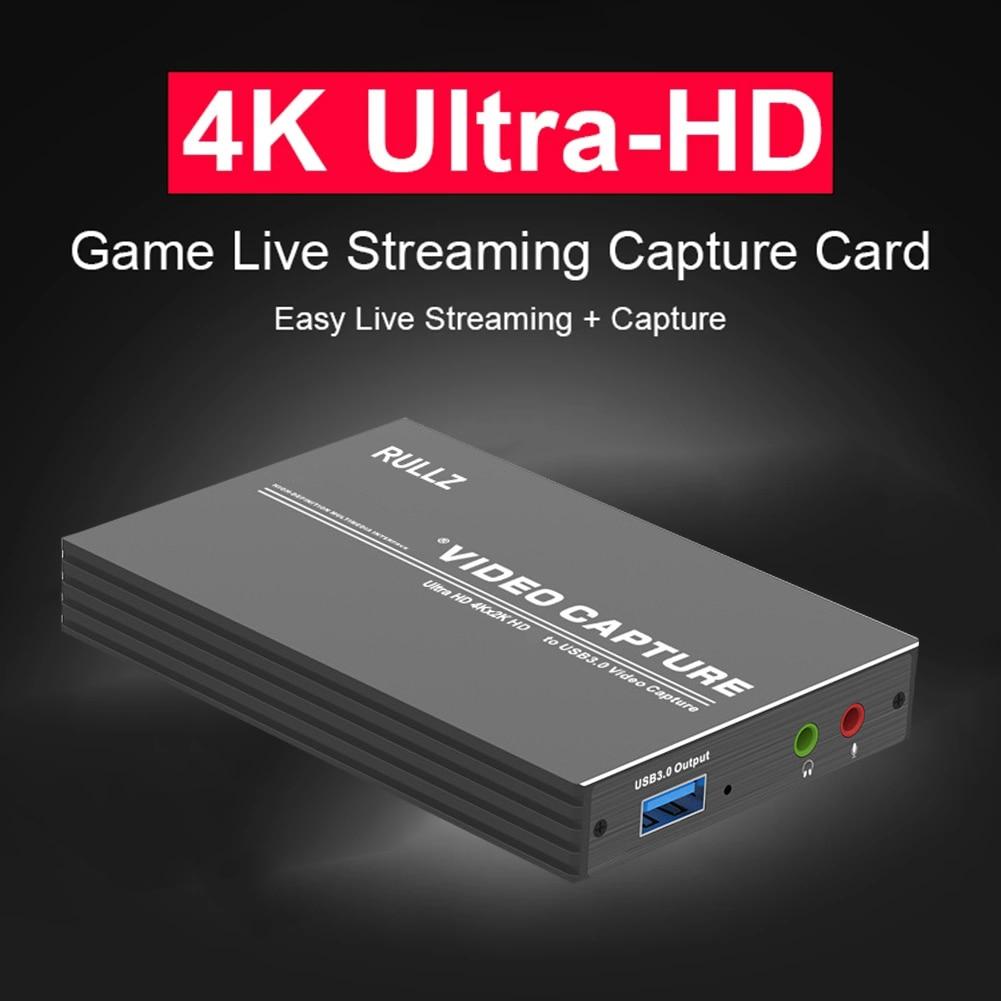 Tarjeta de captura de vídeo 4K USB 3,0 2,0, 1080P, 60fps, grabación...