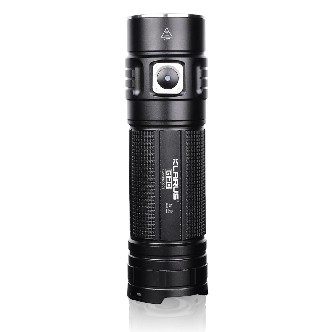 KLARUS G20 Rechargeable LED Flashlight 3000 LM CREE XHP70 LED Torch by 26650 Battery Light Dual Switch Lantern for Self Defense enlarge