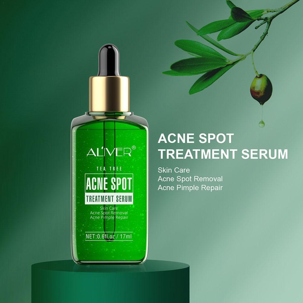 ALIVER-suero facial para tratamiento del acné en el árbol del té, reductor...