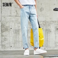 semir denim trousers men casual stretch straight leg pants 2021 spring and summer new ins tide brand mens washed pantssemir den