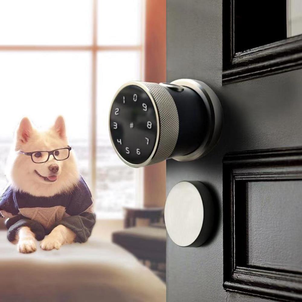 قفل باب بيومتري مع لوحة مفاتيح ذكية ، قفل باب ببصمة الإصبع ، واي فاي ، رقمي ، RFID ، رمز إلكتروني ، مقاوم للماء