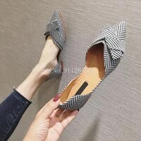 fashion flats for women shoes 2021 spring summer boat shoes pointed toe casual slip on shoes elegant ladies footwear a1394