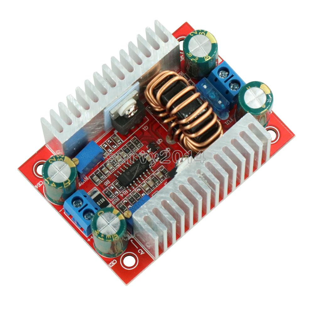 Convertidor de impulso de 400W 15A DC-DC regulador de voltaje de suministro para transformador de energía disipador de calor de potencia constante 8,5 V-50 V a 10-60V