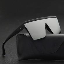 2021 Vintage Male Flat Top Sunglasses Men Brand Black Square Shades UV400 Gradient Sun Glasses For M