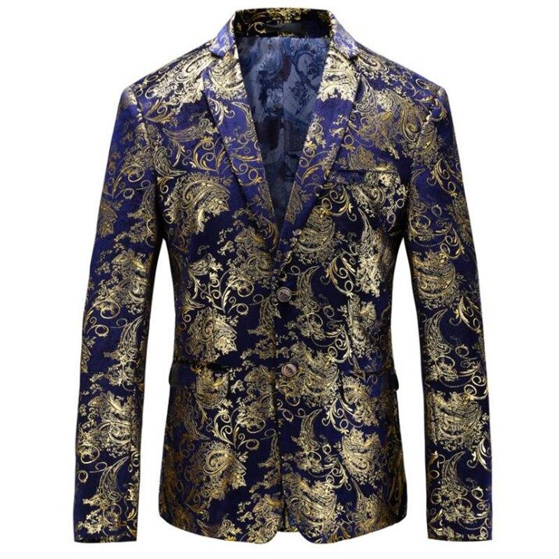 Chaquetas de los hombres vestido floral traje de solapa slim vestido chaquetas...