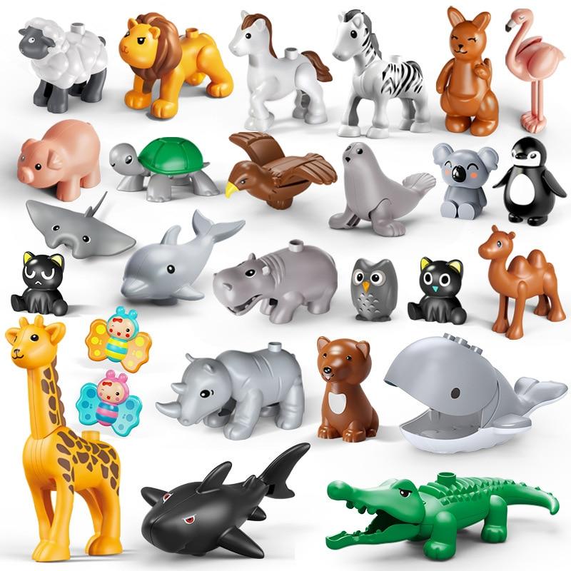 Конструктор с изображением животных, новинка, животные, мультики, морской фламинго, совместим с кирпичными игрушками, подарок для детей