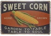 Mais doux retro Vintage en metal  decoration pour la maison  Bar  cuisine  ferme  cadeaux taille 8X12 pouces  Table de jardin a Table
