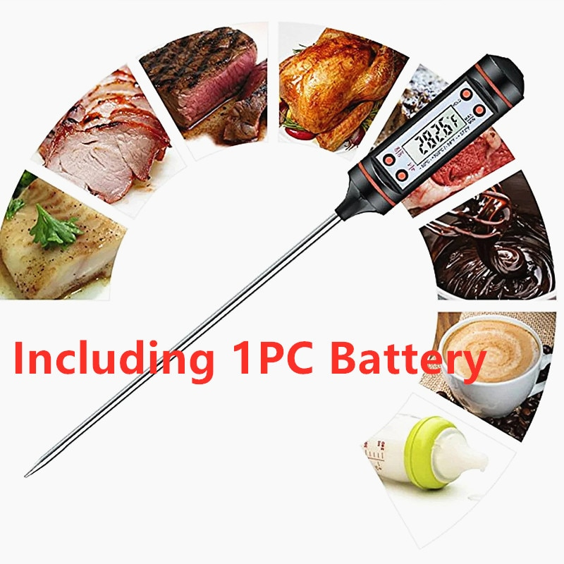 1PC Digital Kitchen Probe Thermometer Meat Thermometer Cooking Food BBQ Probe Temperature Meter -50 To 300'C Food Thermometer