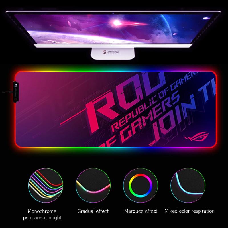 RGB Mouse Pad ASUS ROG computadora de juegos alfombrilla de ratón grande...