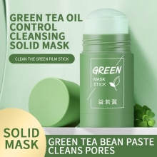 Mud Mask Stick Deep Cleansing Green Tea Eggplant Extract Oil-Control Pores Shrinking Blackhead Remover Facial Cleansing Mask