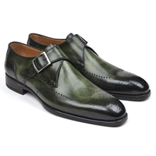 New Arrival Handmade Pu Leather Monk Strap Dress Man Shoes Casual Classic Business Formal Male Shoes