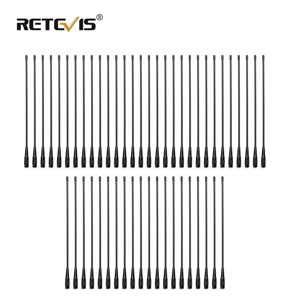 50 قطعة RETEVIS RHD-771 SMA-F اسلكية تخاطب هوائي VHF UHF المزدوج الفرقة 39 سنتيمتر ل كينوود Retevis H777 RT5R Baofeng UV5R 888S C9030A