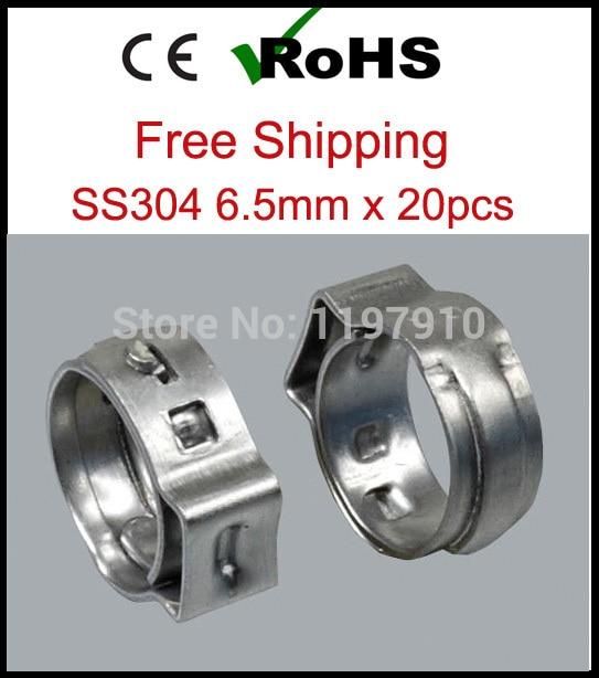 6 5 мм x 20 шт. SS304 хомуты для шлангов из нержавеющей стали 304|steel hose clamp|stainless steel clamphose
