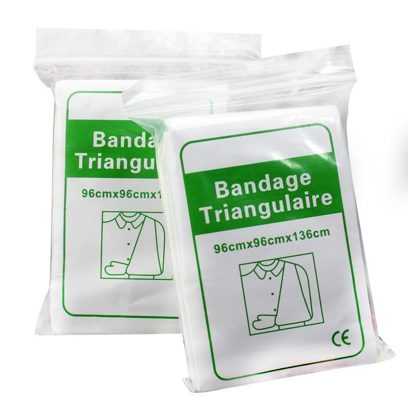 10 шт. нетканый треугольный бандаж утолщенный треугольный бандаж для первой помощи безопасный тройной самоклеящийся эластичный бандаж