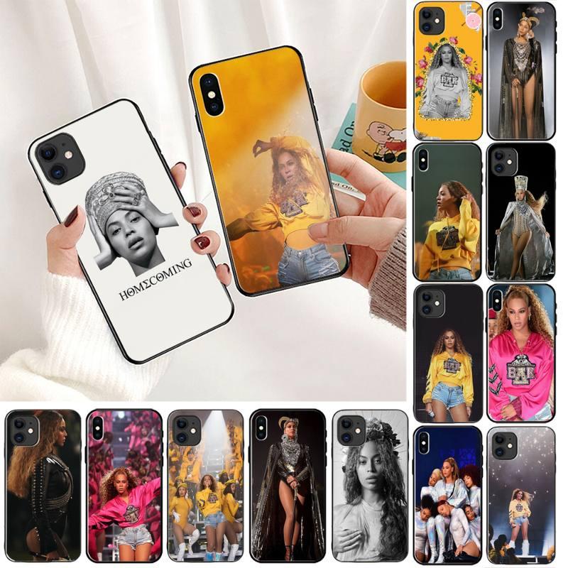 Yndfcnb beyonce caso de telefone preto silicone para o iphone 11 8 7 6s plus x xs max 5 5S se 2020 xr 11 pro capa