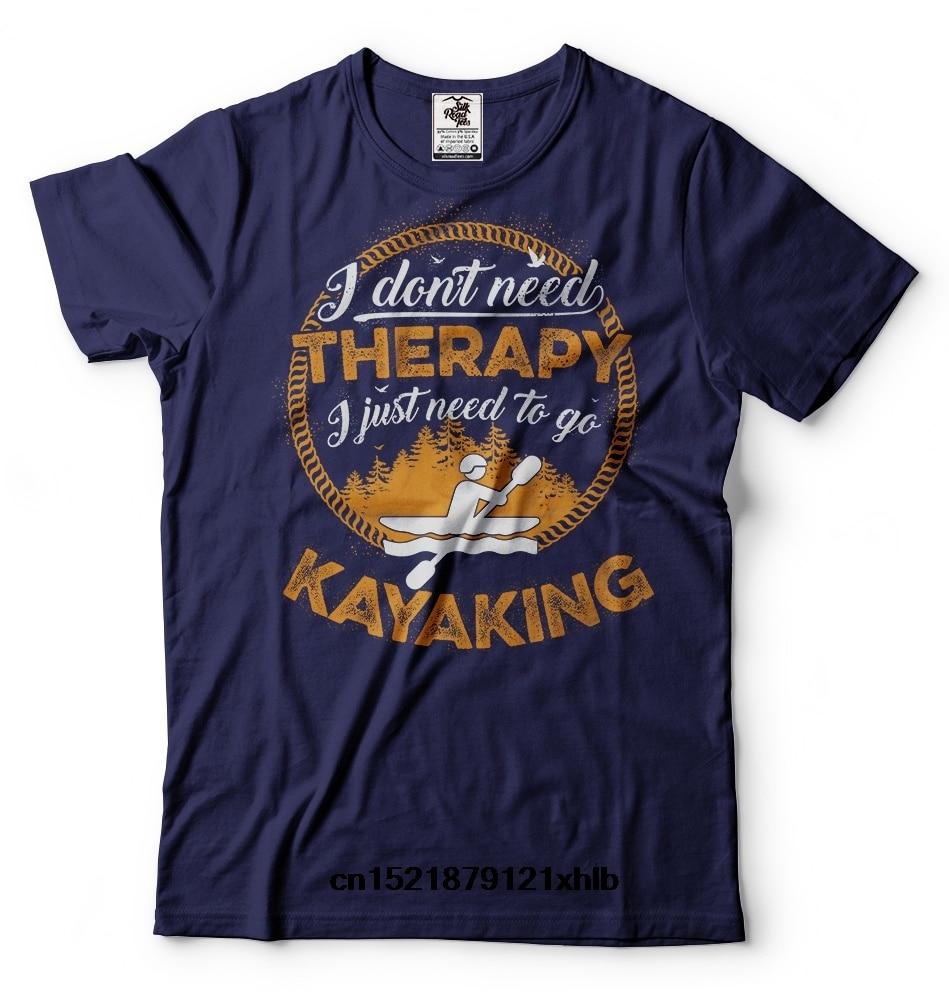 Camiseta divertida de terapia de kayak para hombre, camiseta divertida de kayak para exteriores, camiseta novedosa, camiseta para mujer
