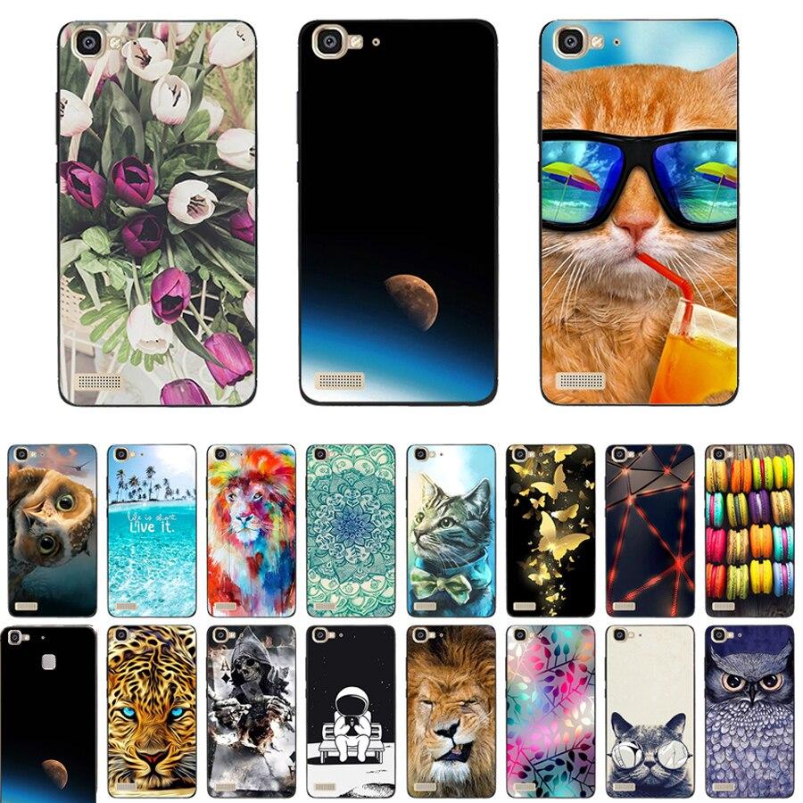 Neue TPU Silicon Funda Abdeckung für Huawei GR3 Fall Ohne Fingerprinting 5,0 zoll GR3 Floral Malerei Schutzhülle Zurück Telefon Fall