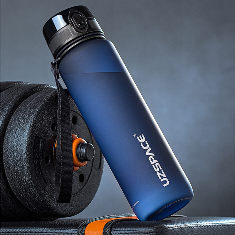 Large Capacity Water Bottle Portable Leakproof Shaker Frosted Plastic Drinkware Travel Camp Sports Direct Drinking Bottle 1000ml