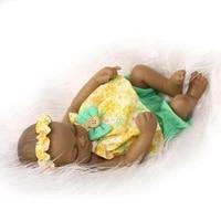 11 sleeping black girl dolls full silicone vinyl baby handmade lifelike reborn high quality silicone vinyl