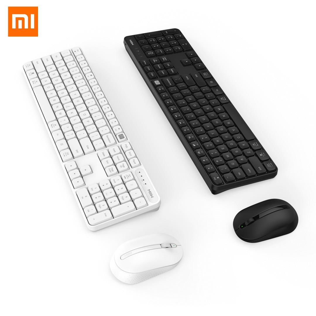 Xiaomi Mijia MIIIW Drahtlose Büro Tastatur Maus Set Windows/Mac System One-taste schalt 104 Schlüssel IPX4 Wasserdicht tastatur