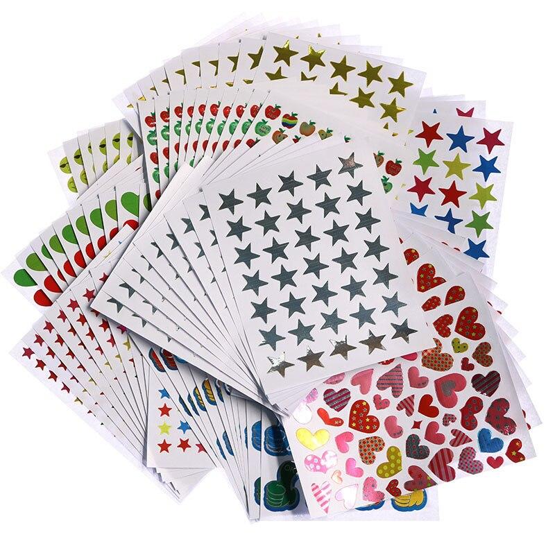 10-lenzuola-pacchetto-di-bambini-gold-plated-award-glitter-adesivi-madre-insegnante-etichetta-lode-premio-a-cinque-punte-star-amore-sticker