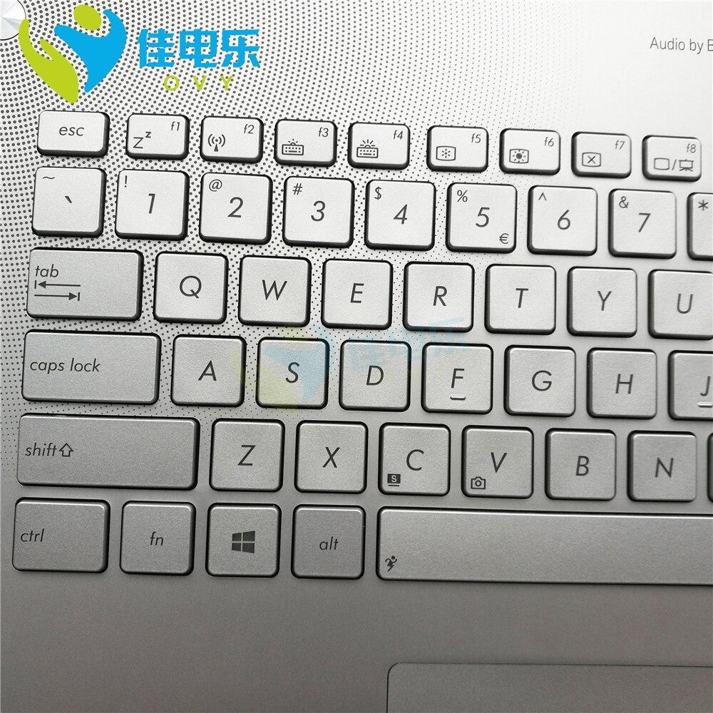 new N750jw Laptop Keyboard for ASUS n750 n750j n750jk n750jv SP US backlit Palmrest Top case 90NB0201-R32SP0 90NB0201-R32UI0 enlarge