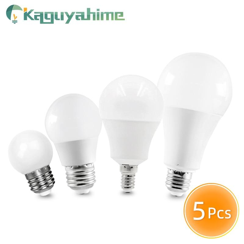 Kaguyahime 5 pçs lede27 lâmpada e14 led dimmablelamp 3w 9 15 20 220v global bola bulbo luz lampada led bombillas ampola