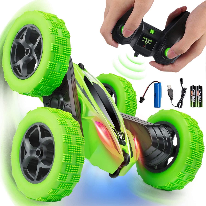 1:24 RC على الوجهين حيلة سيارة مع كول LED 360 درجة التمديد سرعة تعديل التحكم عن بعد الكهربائية الانجراف سيارة على الطرق الوعرة لعبة الصبي