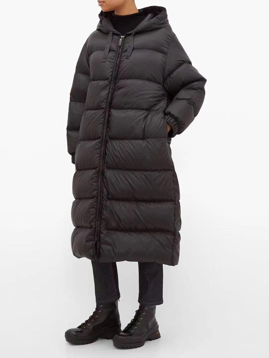 معطف نسائي جديد موضة شتاء 2021 ، سترة بقلنسوة وأكمام طويلة بسحاب ، سترة طويلة ، ياقة قابلة للفصل من الصوف