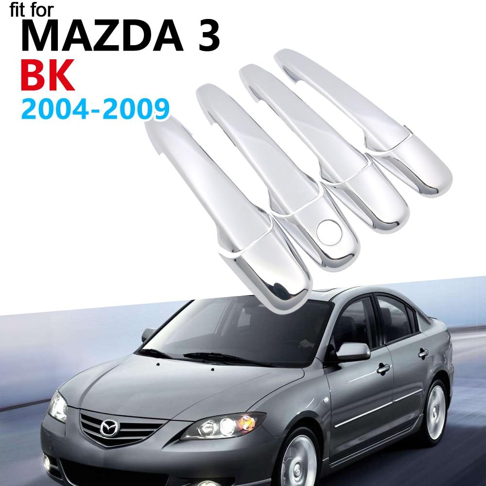 Lujoso moldura de cubierta de manija cromada conjunto para Mazda 3 BK escotilla del Sedan MPS 2004, 2005, 2006, 2007, 2008, 2009 pegatinas de coche