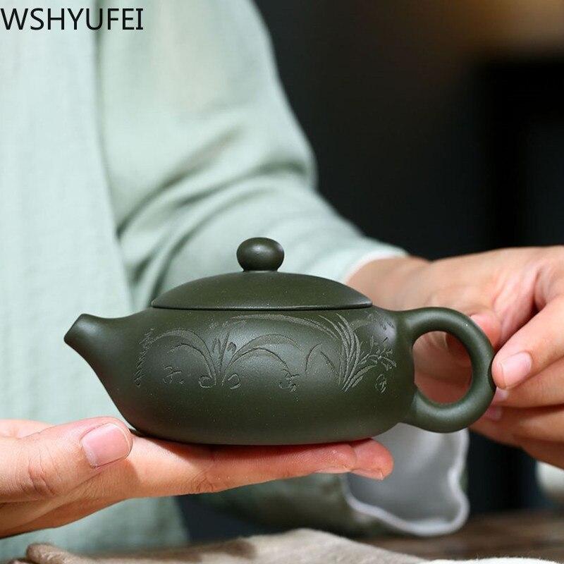 إبريق شاي صيني Yixing من الطين الأرجواني xishi ، غلاية مصنوعة يدويًا ، طقم شاي بوتيك ، هدايا مخصصة ، أصلي ، 170 مللي