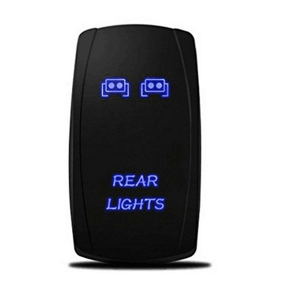 1 Juego de interruptor basculante de barra de luz delantera y trasera y LED para UTV Polaris RZR 900 1000 Ranger, interruptores impermeables, interruptor basculante de barco de coche