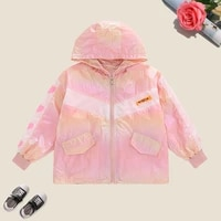 fashion baby girls coat long sleeve teenagers hooded tops spring autumn childrens clothing for 6 8 10 12 14 years 2021
