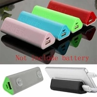 5000mah power bank no battery 18650 diy kit battery charger powerbank box 18650 case mobile usb charger for phone power bank