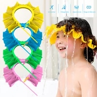 newest adjustable soft baby children leaf shampoo cap ear protection shampoo cap bathing shower cap hat 0 3 years baby care gift