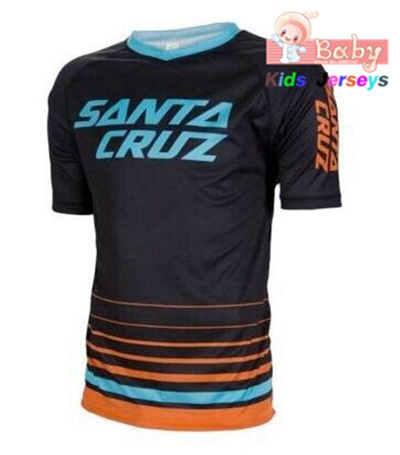boys Short Sleeve Cycling Jersey Offroad Bicycle Jersey MTB Downhill Shirt DH MX Uniform Mountain Bike Clothing Motocross Wear