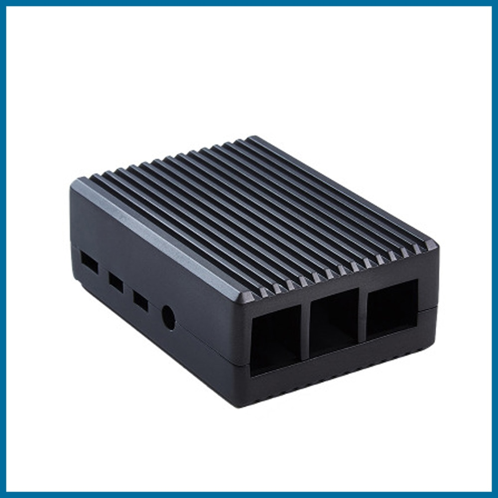 S ROBOT Raspberry Pi 4 Model B Aluminum Alloy Case/ Passive Cooling Shell Metal Enclosure Heat Dissipation for Pi 4B RPI183