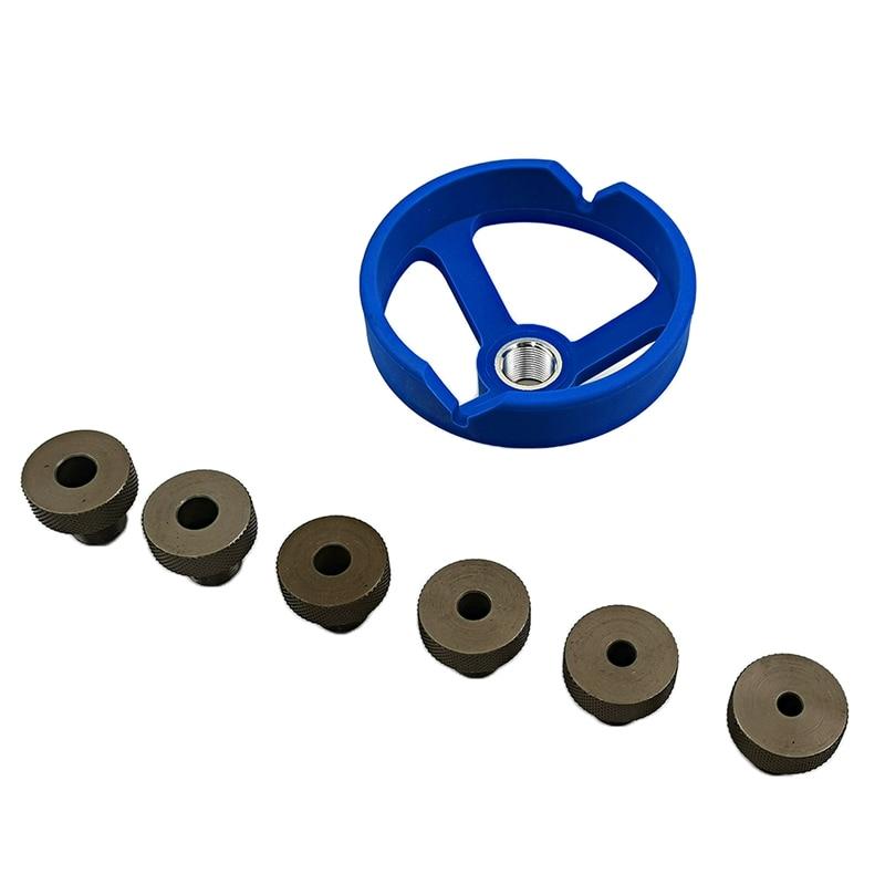 Taladro de 90 grados guía perforador localizador agujero de bolsillo Jig 5-10mm buje de acero inoxidable herramientas de carpintería abridor de agujeros