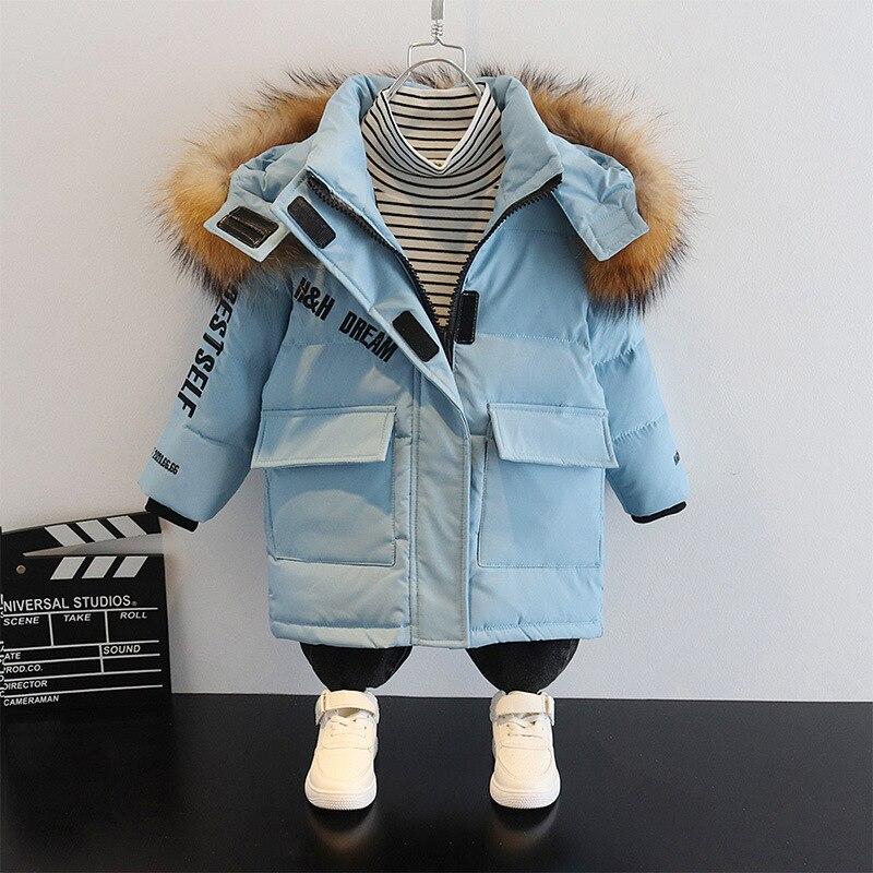 -30 درجة الأطفال الشتاء معطف مقنع سميكة الدافئة 90% الأبيض بطة أسفل سترة الفتيات الفتيان ملابس الاطفال سترة ملابس خارجية Snowsuit