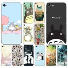 166DD mi vecino Totoro Studio Ghibli corte suave de silicona caso de la cubierta para iphone 5 5s se 6 6s 8 plus 7 7 Plus X XS X SR MAX caso