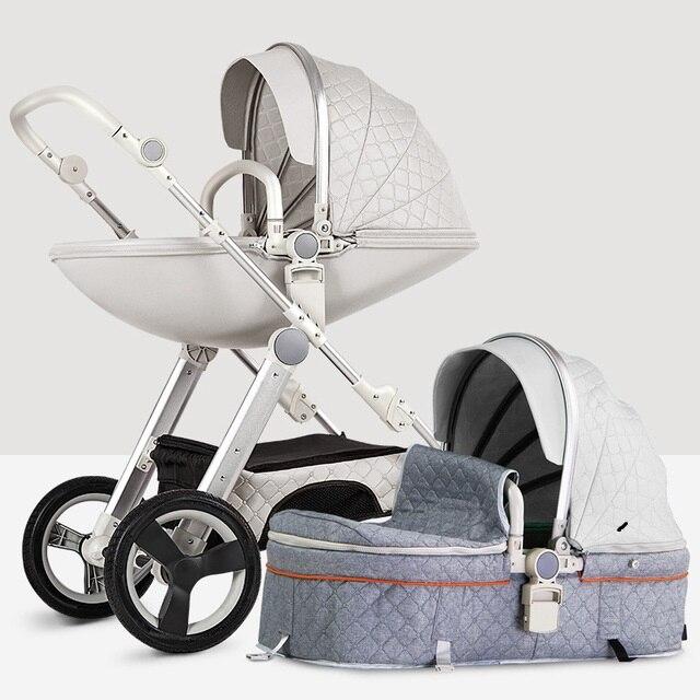 Carrinho de bebê, carrinho de bebê de alta panorama carrinho de bebê recém-nascido, caminhador triciclo, frete grátis