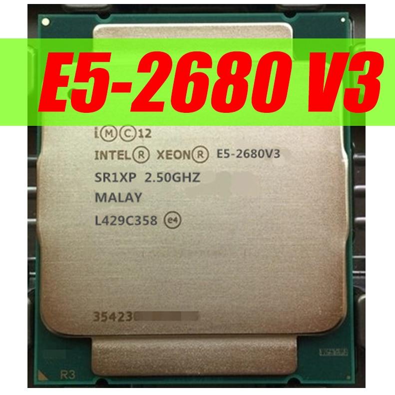 Intel Xeon E5 2680 V3 Processor SR1XP 2.5Ghz 12 Core 30MB Socket LGA 2011-3 CPU E5 2680V3